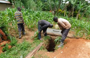 The Water Project:  New Pit Dug For A Sanitation Platform