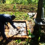 The Water Project: Chepnonochi Community -  Sanitation Platform Construction