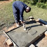 The Water Project: Upper Visiru Community, Wambosani Spring -  Sanitation Platform Construction
