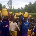 The Water Project: Essongolo Primary School -  Carrying Water