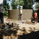 The Water Project: Eshisenye Primary School -  Tank Construction