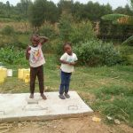 The Water Project: Emaka Community, Ateka Spring -  New Latrine Platform