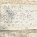 The Water Project: Masaani Community -  Sand Dam Plaque