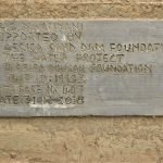 The Water Project: Ilinge Community D -  Sand Dam Plaque
