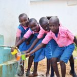 The Water Project: Katuluni Primary School -  Water Flowing