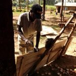 The Water Project: Shihimba Primary School -  Making A Latrine Door