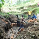 The Water Project: Koloch Community, Solomon Pendi Spring -  Spring Construction