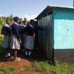 The Water Project: Immaculate Heart Secondary School -  Girls At Their Latrines