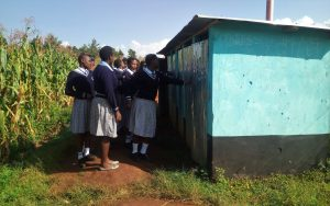The Water Project:  Girls At Their Latrines