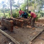 The Water Project: Lugango Primary School -  Latrine Construction