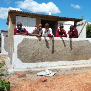 The Water Project:  Finished Latrine