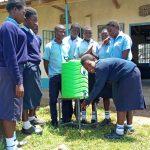 The Water Project: Gidagadi Secondary School -  New Handwashing Stations