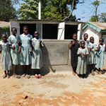 The Water Project: Eshisenye Primary School -  Finished Latrines