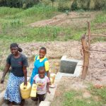 The Water Project: Emaka Community, Ateka Spring -  Flowing Water