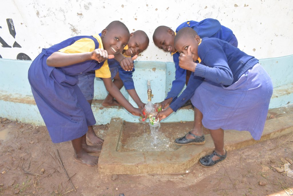The Water Project : 3-kenya18238-water-flowing