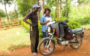 The Water Project:  Field Officer Jacky Interviewing