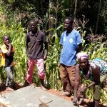 The Water Project: Chepnonochi Community, Chepnonochi Spring -  Finished Sanitation Platform