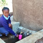 The Water Project: Gidagadi Secondary School -  Water Flowing