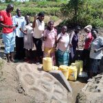 The Water Project: Elutali Community, Obati Spring -  Flowing Water
