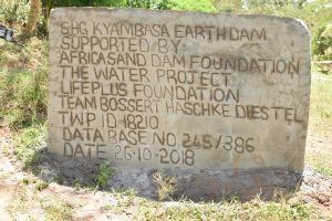 The Water Project:  New Plaque