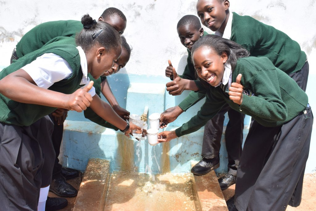 The Water Project : 4-kenya18242-water-flowing