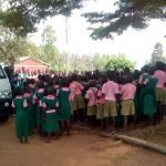 The Water Project: Mukhweya Primary School -  Students Assembled Outside