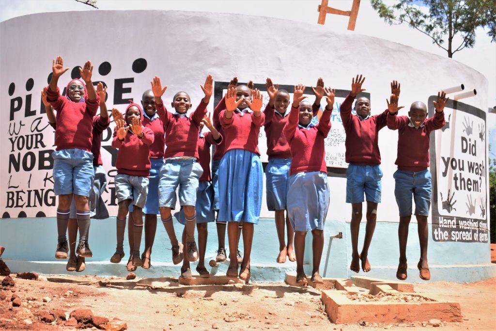 The Water Project : 40-kenya18247-finished-tank-celebration