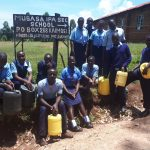 The Water Project: Musasa Secondary School -  Posing With Water Containers