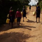 The Water Project: Kapkemich Primary School -  Going To Fetch Water