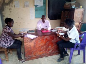 The Water Project:  Our Staff Meeting Wtih Headteacher