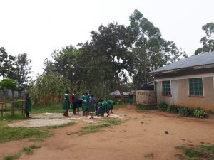 The Water Project:  Students Drying Maize