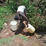 The Water Project: Ataku Community, Ngache Spring -  Fetching Water