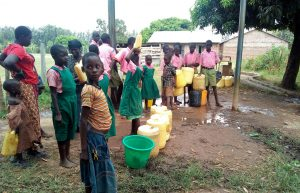The Water Project:  Fetching Water From The Secondary School