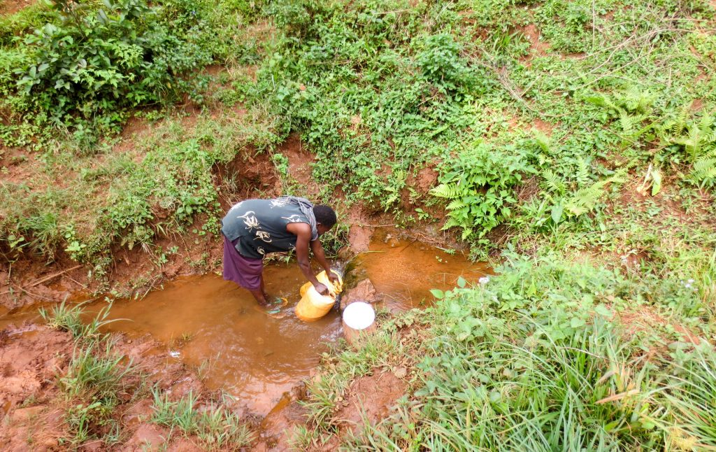 The Water Project : 8-kenya19114-fetching-water