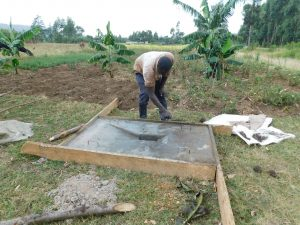 The Water Project:  Latrine Platform Construction