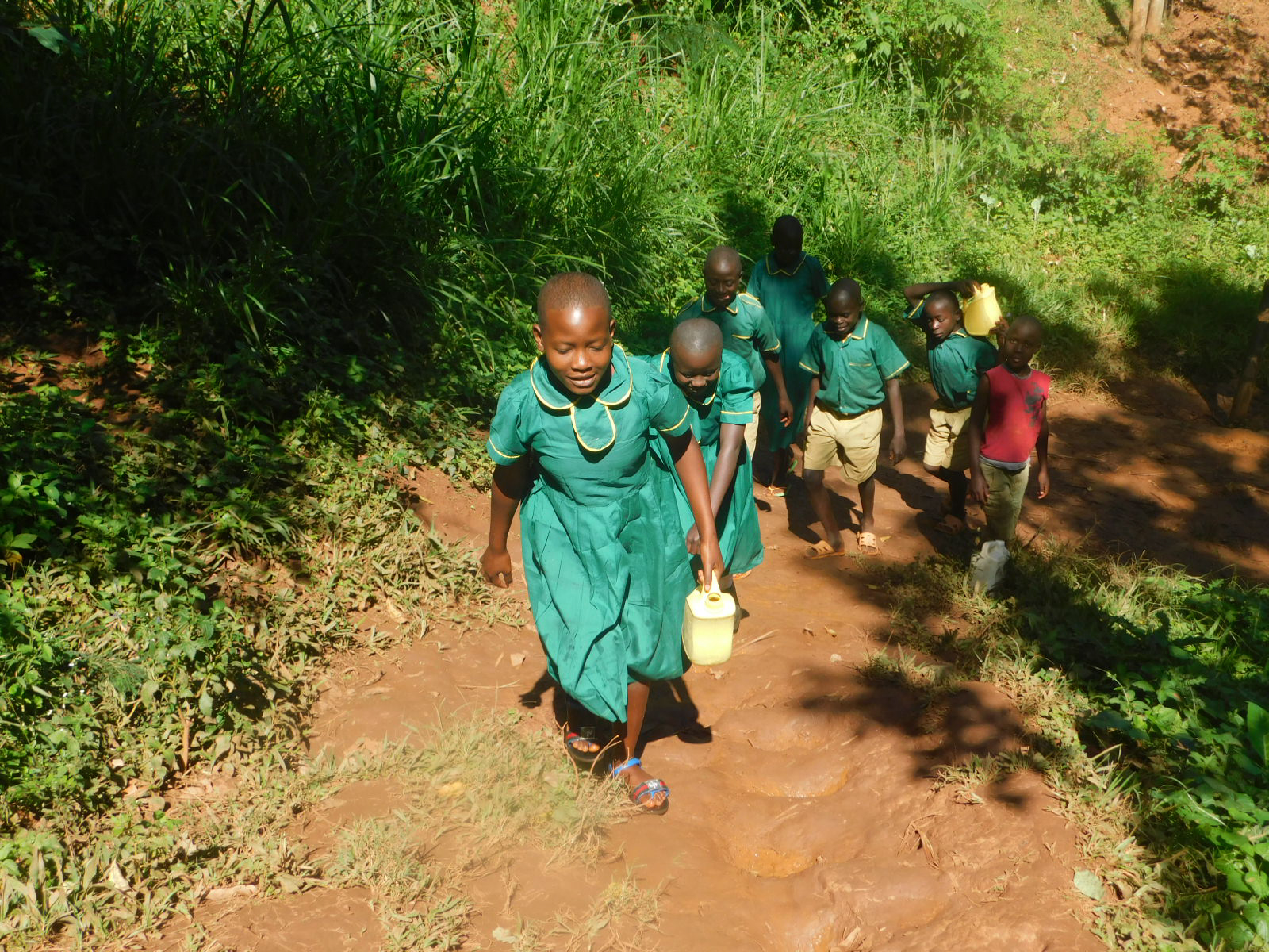 The Water Project : 9-kenya19175-carrying-water-to-school