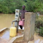 The Water Project: Mwau Community -  Fetching Water