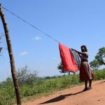 The Water Project: Kathuli Community -  Hanging Clothes