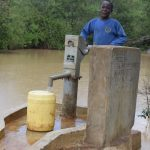 The Water Project: Mwau Community A -  Fetching Water