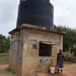 The Water Project: Kathungutu Community A -  Water Kiosk