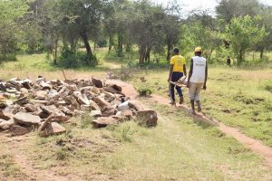 The Water Project:  Hauling Rocks For Project