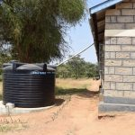 The Water Project: Kyamatula Secondary School -  Existing Plastic Rainwater Tank