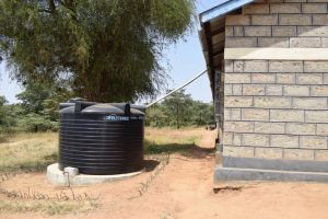The Water Project:  Existing Plastic Rainwater Tank