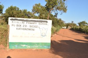 The Water Project:  School Sign And Entrance