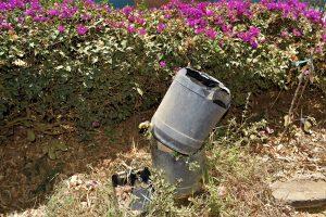 The Water Project:  Broken Handwashing Station