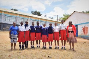 The Water Project:  Girls And Teachers Pose Outside