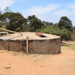 The Water Project: AIC Kyome Girls' Secondary School -  Small Concrete Rainwater Tank