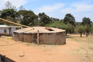 The Water Project:  Small Concrete Rainwater Tank
