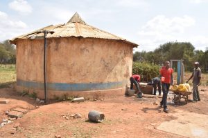 The Water Project:  Old Rainwater Harvesting Tank