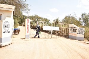 The Water Project:  School Gate And Sign